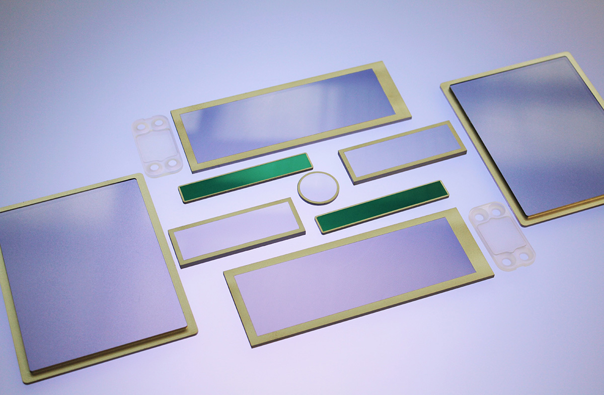 shielded optical windows EMI or RFI